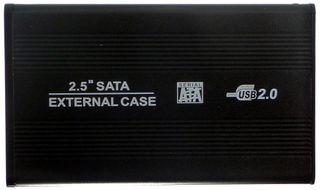 SATA/USB2.0 ext. HDD-Case schwarz ID6895