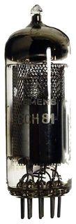 ECH81 Triode-Heptode, mesh. Eine Radioröhre von Siemens. ID80