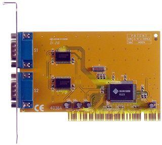 PCI Multi I/O Card 2S 2x seriell Sun1889 Win7 ok ID9227