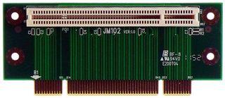 PCI Raiser Riser 1 PCI-Slot 40mm hoch PA-JM102, von M-ware®. ID9793
