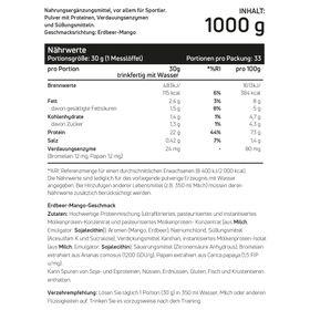 Whey Protein Erdbeere & Mango 1kg – Bild 2