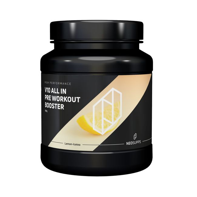 "Pre Workout Booster V10 ALL IN 500g ""Eistee Zitrone"" – Bild 1"