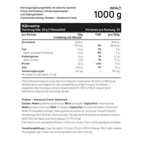 Whey Protein Himbeer-Kokos-Creme 1kg – Bild 2