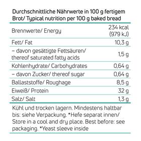 Dunkles Eiweißbrot / Proteinbrot – Bild 2