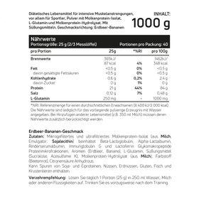 Whey Protein Isolat Erdbeer-Banane 1kg – Bild 2