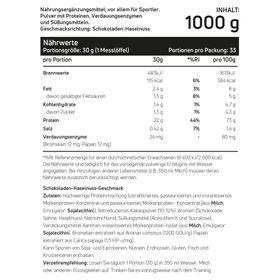 Whey Protein Haselnuss-Schokoladencreme 1kg – Bild 2