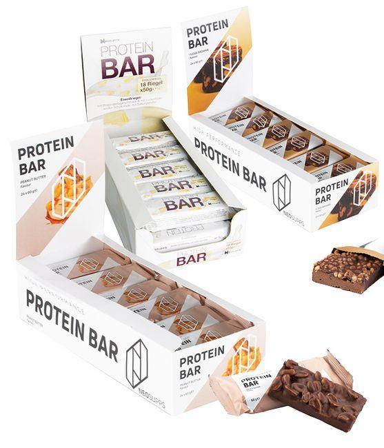 Bundle Protein Bar - Fudge Brownie, Peanut Butter & White Chocolate Stracciatella – Bild 1