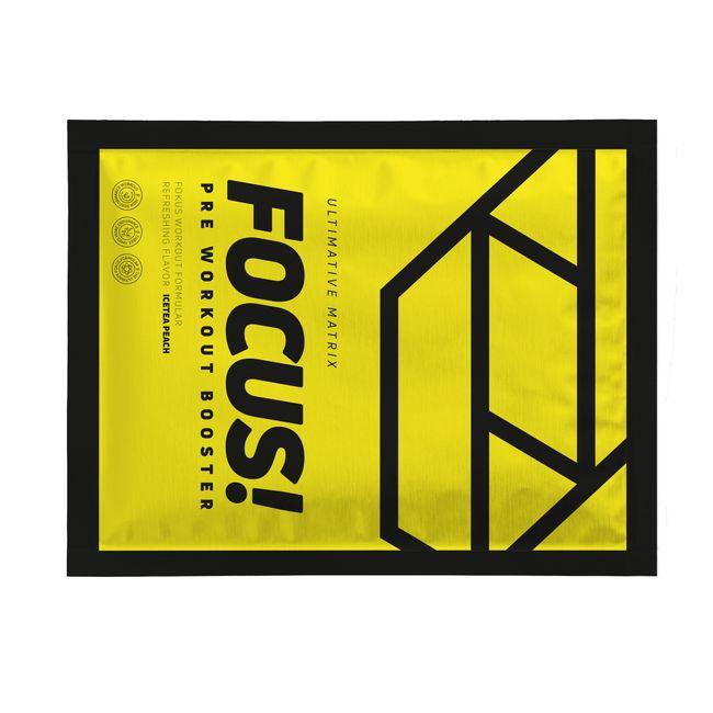 Pre Workout Booster Focus Probe Eistee Pfirsich 7g – Bild 1