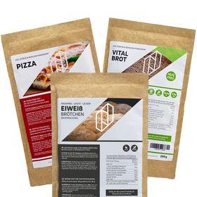 """Bundle BREAD TWO Eiweißbrötchen & Protein Pizzamischung Pizzateig & Protein """"Vital Brot"""" – Bild 1"""