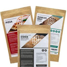 Bundle BREAD THREE Eiweißbrötchen & Protein Pizzamischung Pizzateig & Dunkles Eiweißbrot / Proteinbrot – Bild 1