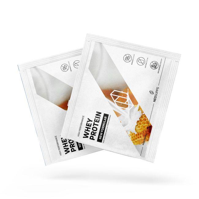 1x Whey Protein Milch & Honig Probe – Bild 1