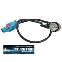 Antennenadapter Fakra (M) wasserblau, ISO 50 OHM