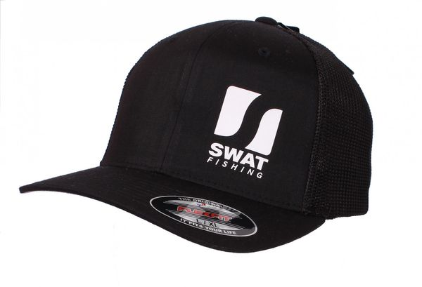 SWAT Fishing Mesh Cap Flexfit Black