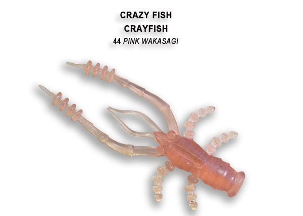 """Crayfish 1.8"""" 4,5cm von Crazy Fish (8 Stück), Creaturebait, Gummikrebs, Barschköder – Bild 11"""