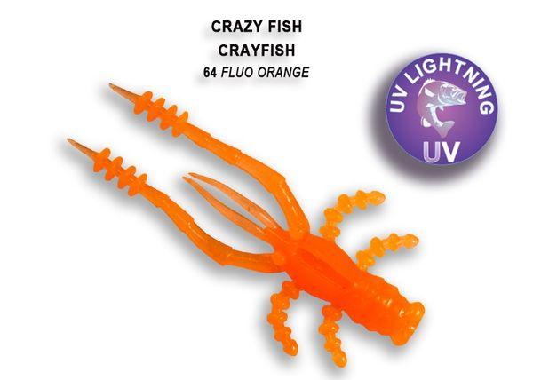 """Crayfish 1.8"""" 4,5cm von Crazy Fish (8 Stück), Creaturebait, Gummikrebs, Barschköder – Bild 20"""