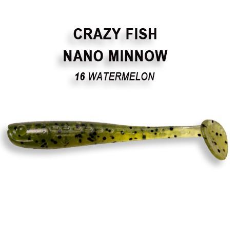 """Nano Minnow 2.2"""" 5,5cm von Crazy Fish (8 Stück), Actionshad, Shad, Gummifisch, Barsch, Forelle – Bild 5"""