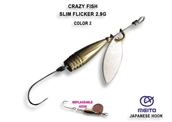 Slim Flicker Spinner 2,9g Ultra Light von Crazy Fish – Bild 2
