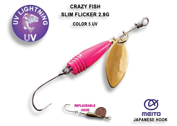 Slim Flicker Spinner 2,9g Ultra Light von Crazy Fish – Bild 3