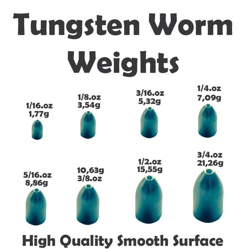 Tungsten Worm Bullet Plain