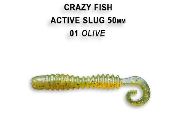 "Active Slug 2"" 5cm New Style von Crazy Fish – Bild 2"