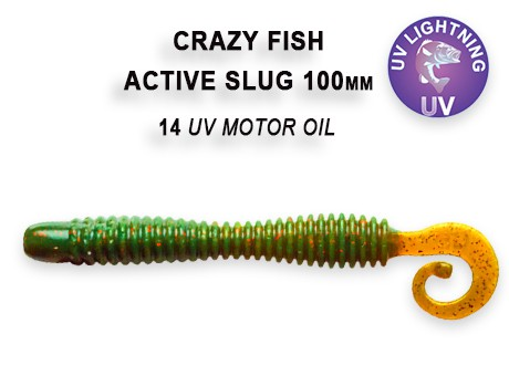 "Active Slug 4"" New Style 10cm Crazy Fish, Gummifisch, Wurm, Actionshad – Bild 5"
