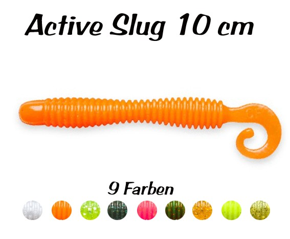"Active Slug 4"" New Style 10cm Crazy Fish, Gummifisch, Wurm, Actionshad – Bild 1"