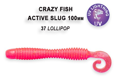 "Active Slug 4"" New Style 10cm Crazy Fish, Gummifisch, Wurm, Actionshad – Bild 6"