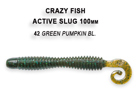 "Active Slug 4"" New Style 10cm Crazy Fish, Gummifisch, Wurm, Actionshad – Bild 7"