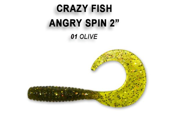 "Angry Spin 2"" / 4,5cm von Crazy Fish"