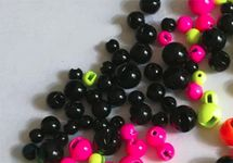 Slotted Tungsten Bead Black (5 Stck) 001