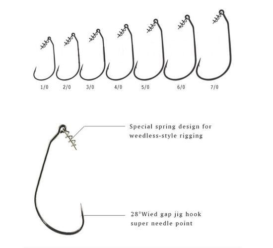 Swim Bait Hook Haken Weedless (5 Stck)