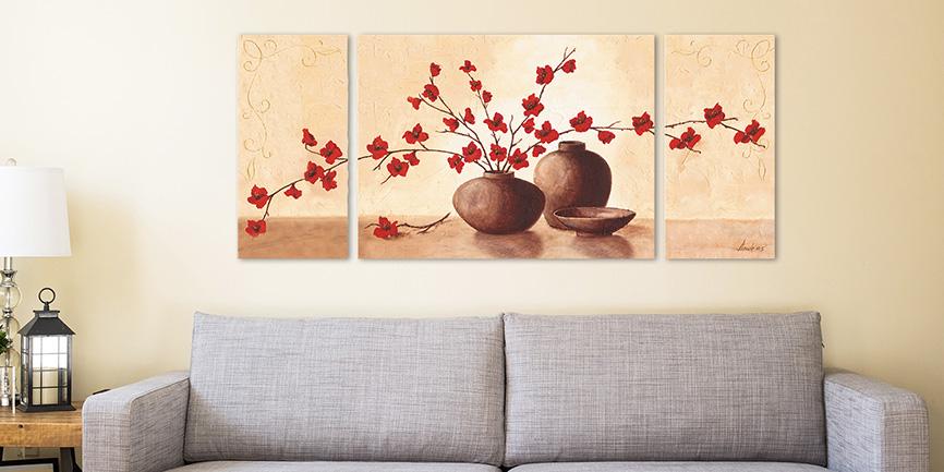 Artgalerie Bildershop Triptychon Dreiteiler Set
