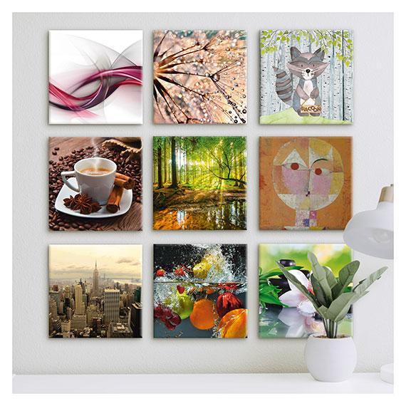 Leinwandbild Collage mit verschiedenen Motiven von Artland im Onlineshop Artgalerie Bildershop