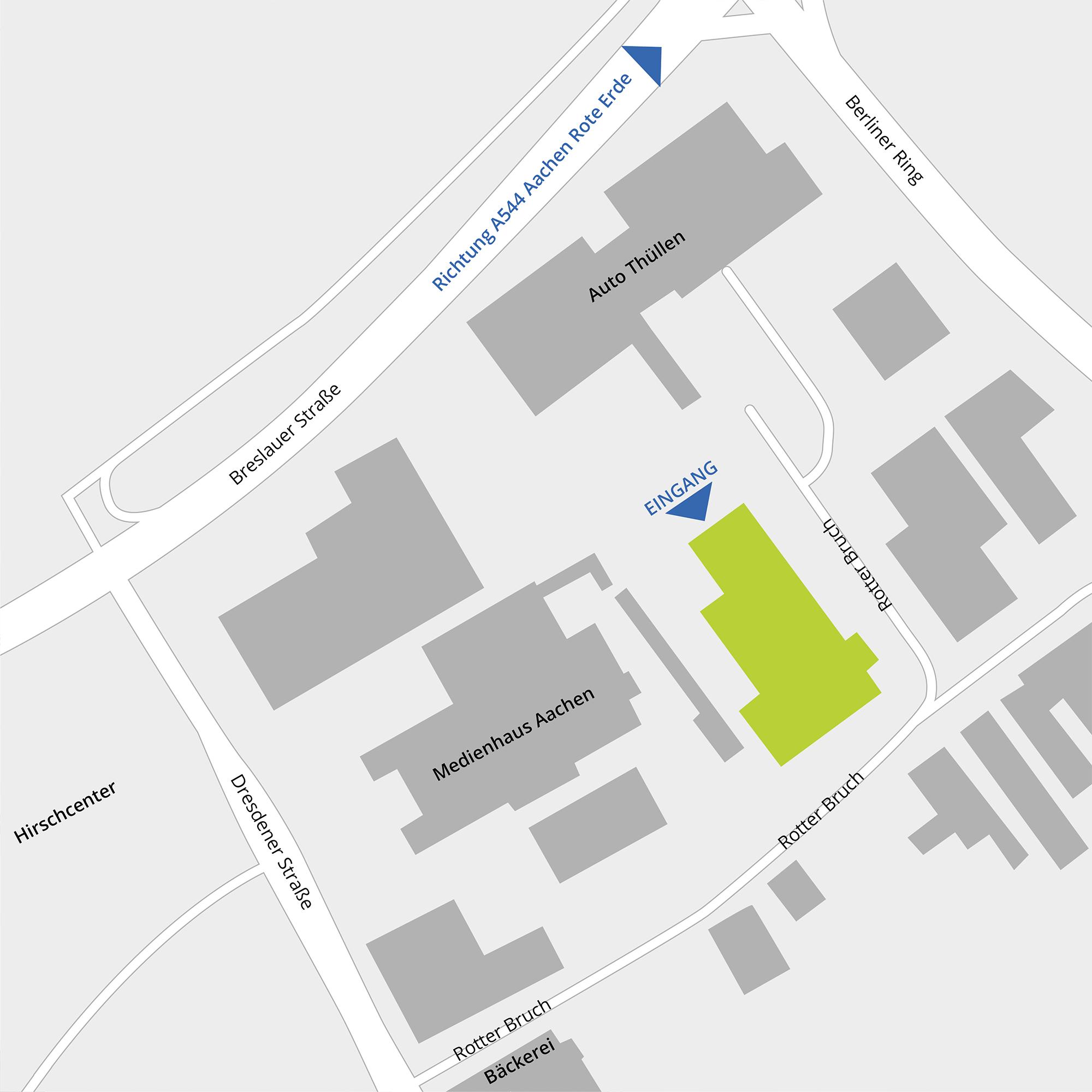 Anfahrtsskizze ARTLand GmbH Aachen