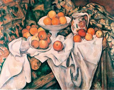 Paul Cezanne: Apples and Oranges - Kunstdruck auf Holzfaserplatte 47 x 61 cm
