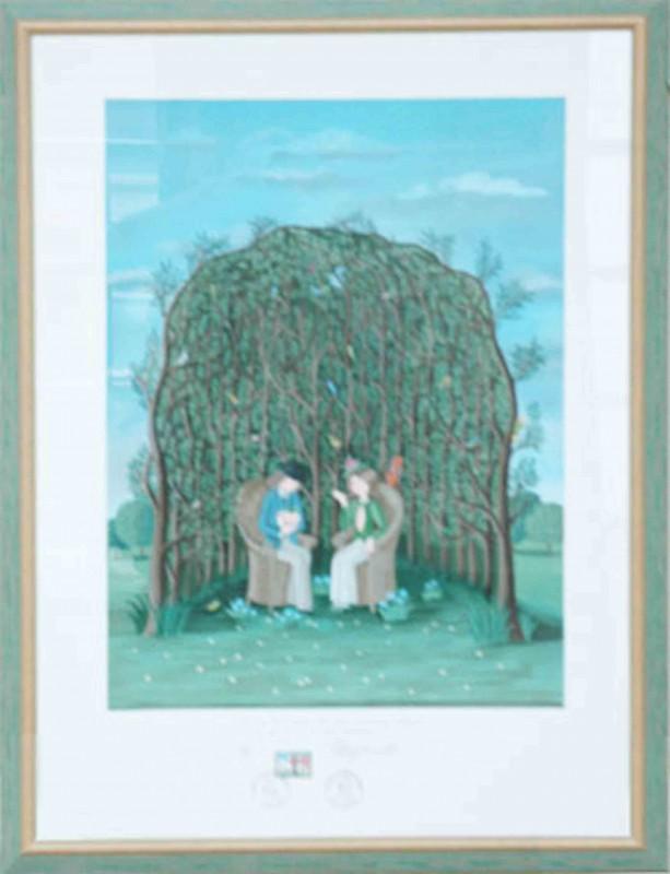 Degnet: ohne Titel - Original, gerahmt 83 x 63 cm