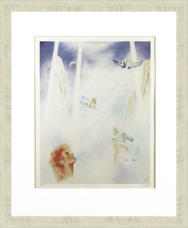 Hahlbrock: ohne Titel - Frauenkopf - Original, gerahmt mit Passepartout 76 x 64 cm