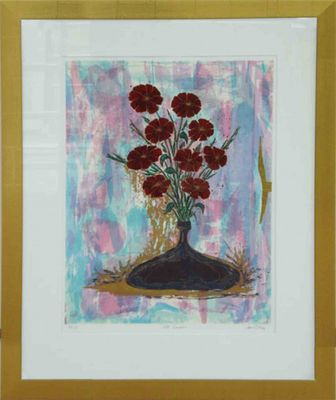 Jan LL. King: Late Summer - Original, gerahmt mit Passepartout 93 x 73 cm