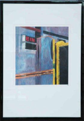 GR: ohne Titel - Original, gerahmt mit Passepartout 74 x 54 cm