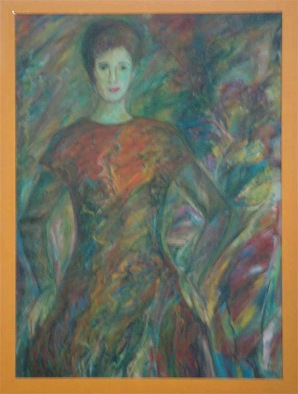 E. Sobelewska: ohne Titel - Original auf Leinwand, gerahmt 101 x 97 cm