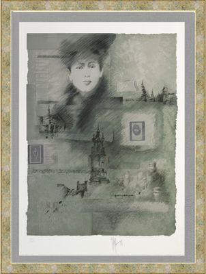 Alain Kleinmann: ohne Titel - Frau - Original, gerahmt mit Passepartout 116 x 93 cm