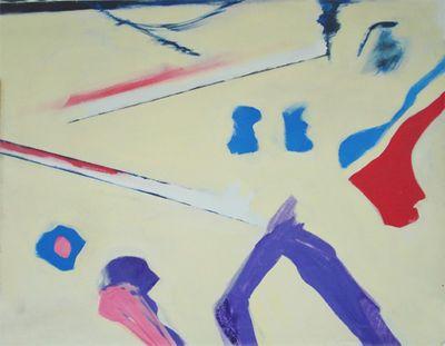 GK: ohne Titel - Original auf Leinwand 74 x 92,5 cm