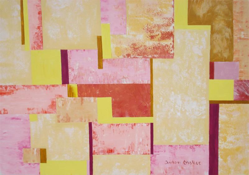 Anton Maller: Abstrakt II - Original auf Leinwand 80 x 110 cm