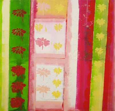 Ellen F.: Farbenspiel I - Original auf Leinwand 90 x 90 cm