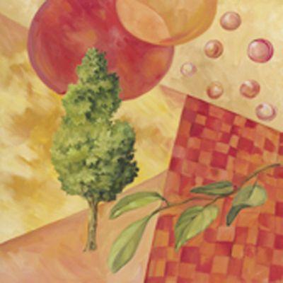 M. Alessandro: Baum - Original auf Leinwand 70 x 70 cm