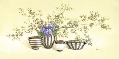 A. Heins: Streaky vases I - Original auf Leinwand 50 x 100 cm