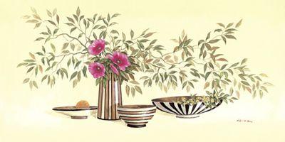 A. Heins: Streaky vases II - Original auf Leinwand 50 x 100 cm