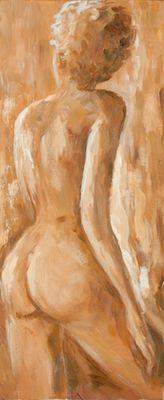 A. S.: Frau - Original auf Leinwand 100 x 40 cm