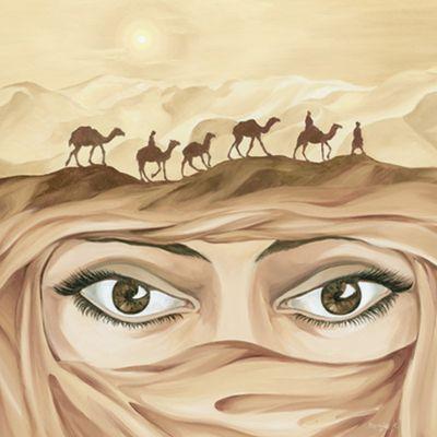 Tanja Kowak: Tuareg II - Original auf Leinwand 80 x 80 cm