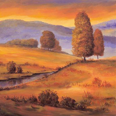 Andres: Sunny Landscape I - Original auf Leinwand 70 x 70 cm